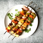 Marinated Pineapple Cilantro Chicken Kabobs