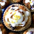 Blueberry Lemon Muffins with Lemon Glaze (Gluten-Free)