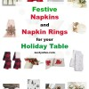 Festive Napkins And Napkin Rings For Your Holiday Table