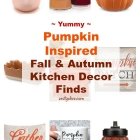 Pumpkin Inspired Fall And Autumn Kitchen Decor Finds