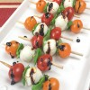 Easy Caprese Salad Skewers with Balsamic Glaze