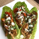 Healthy Chicken Fajita Lettuce Wraps