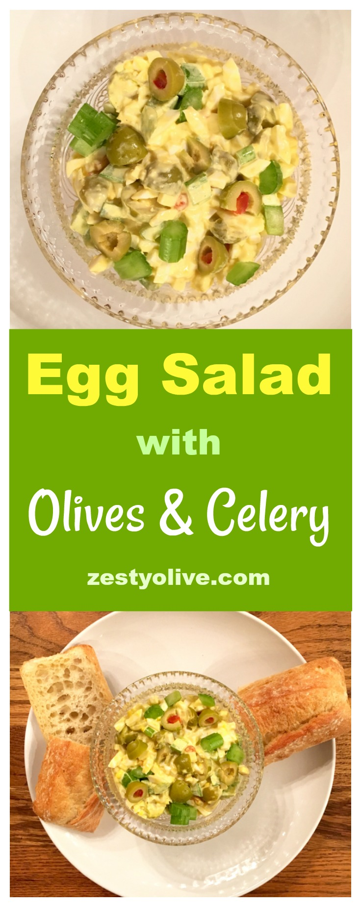 Egg Salad with Olives and Celery