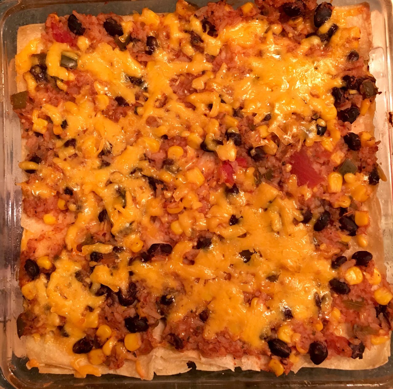 Black Beans And Rice Mexican Lasagna