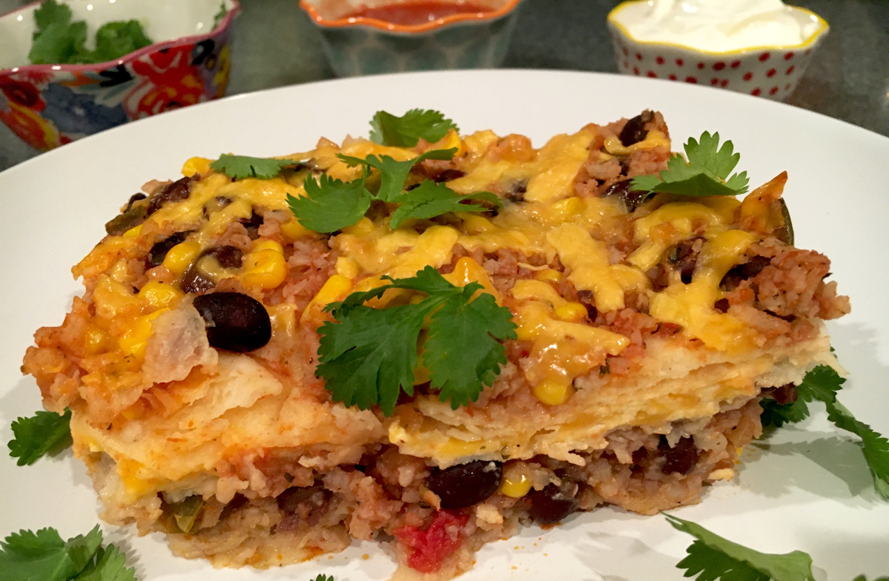 Black Beans And Rice Lasagna