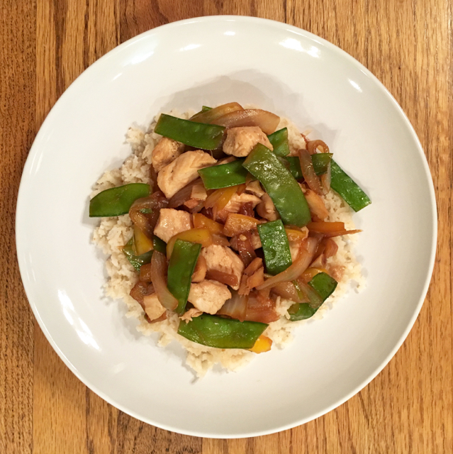 Chicken, Snow Pea, and Ginger Stir Fry