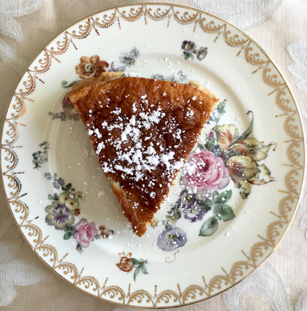 Spiced Pear Custard Pie