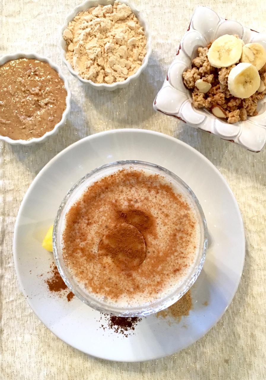 ABC (Almond Banana Cinnamon) Protein Smoothie