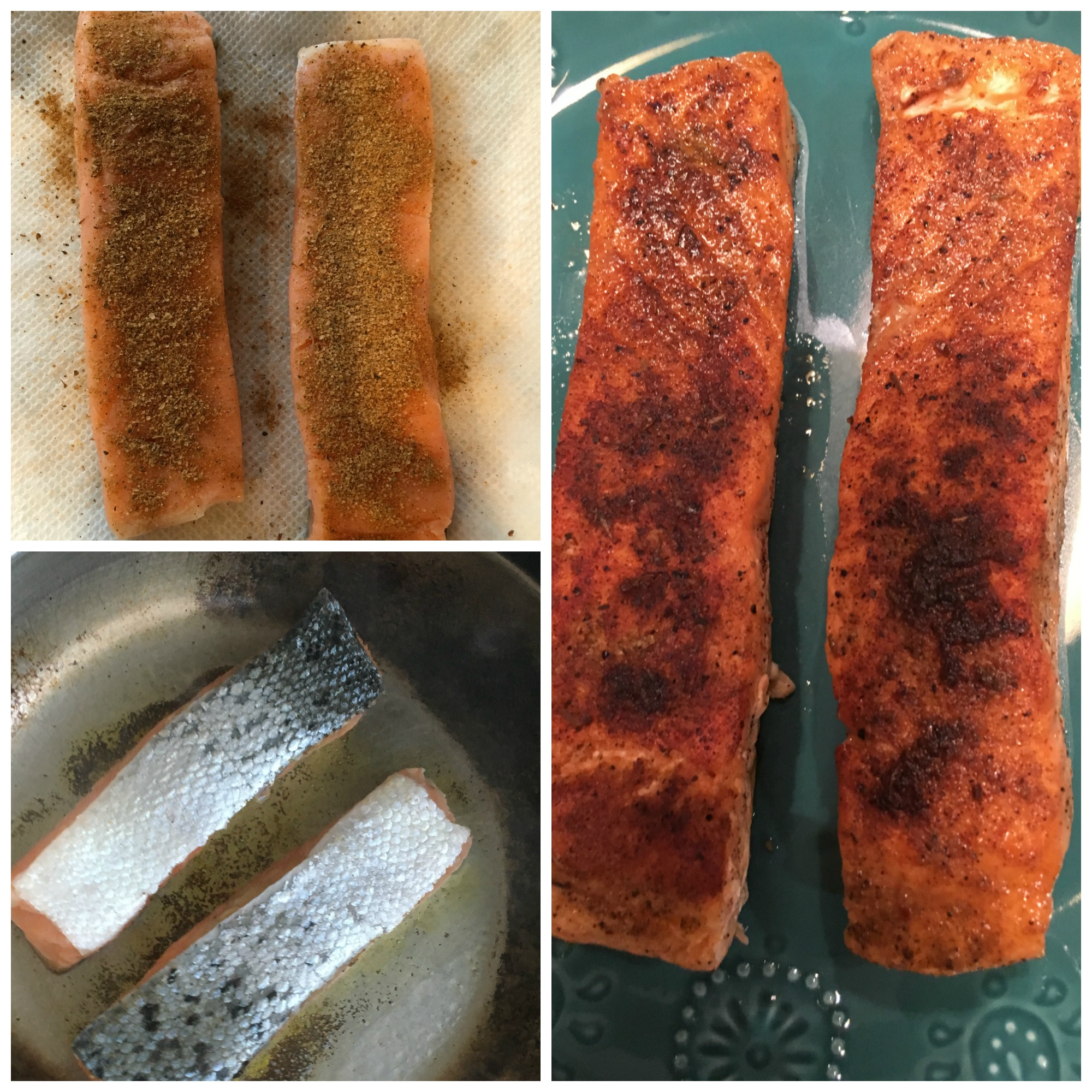 Blackened Pan Seared Salmon