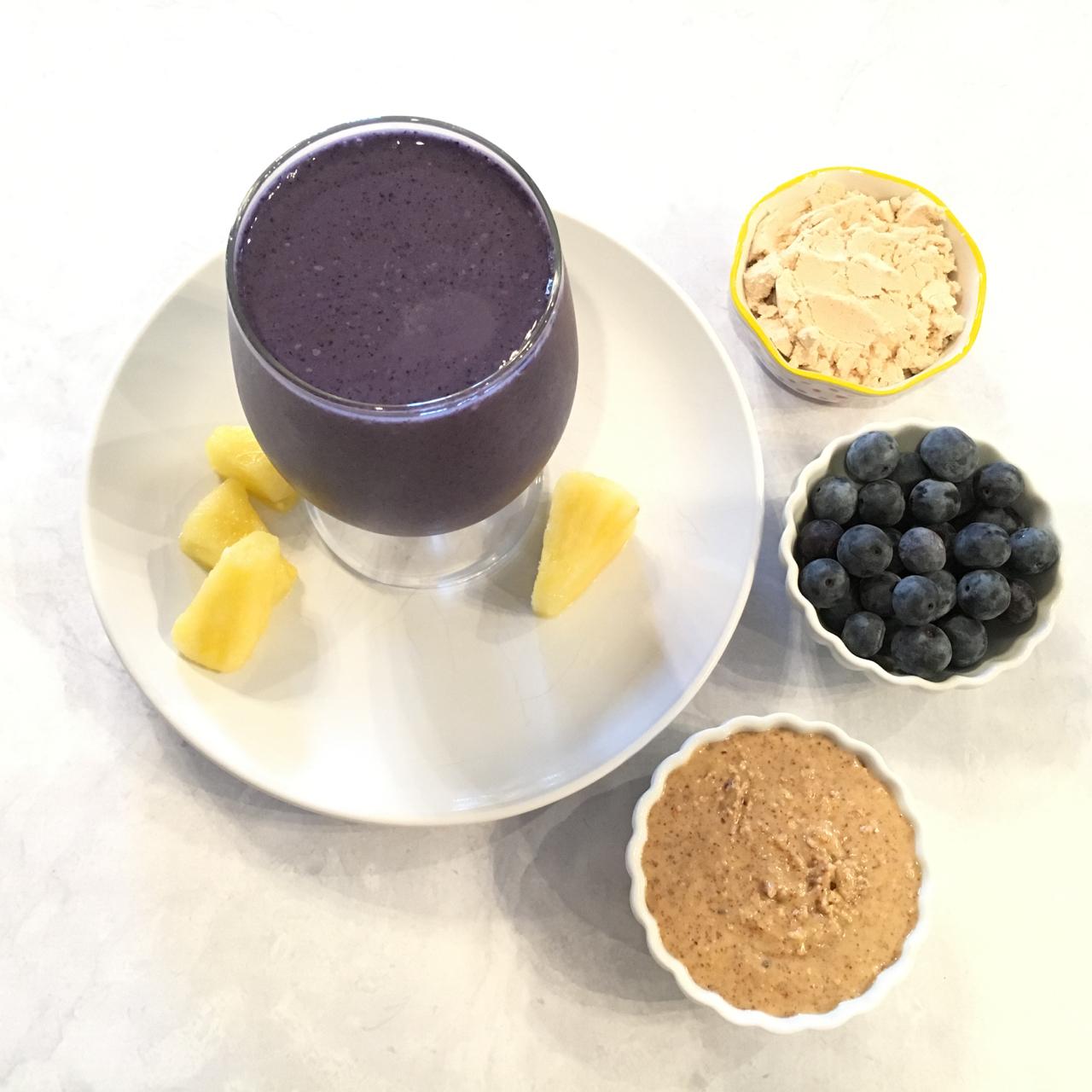 Blueberry Pineapple Protein Smoothie