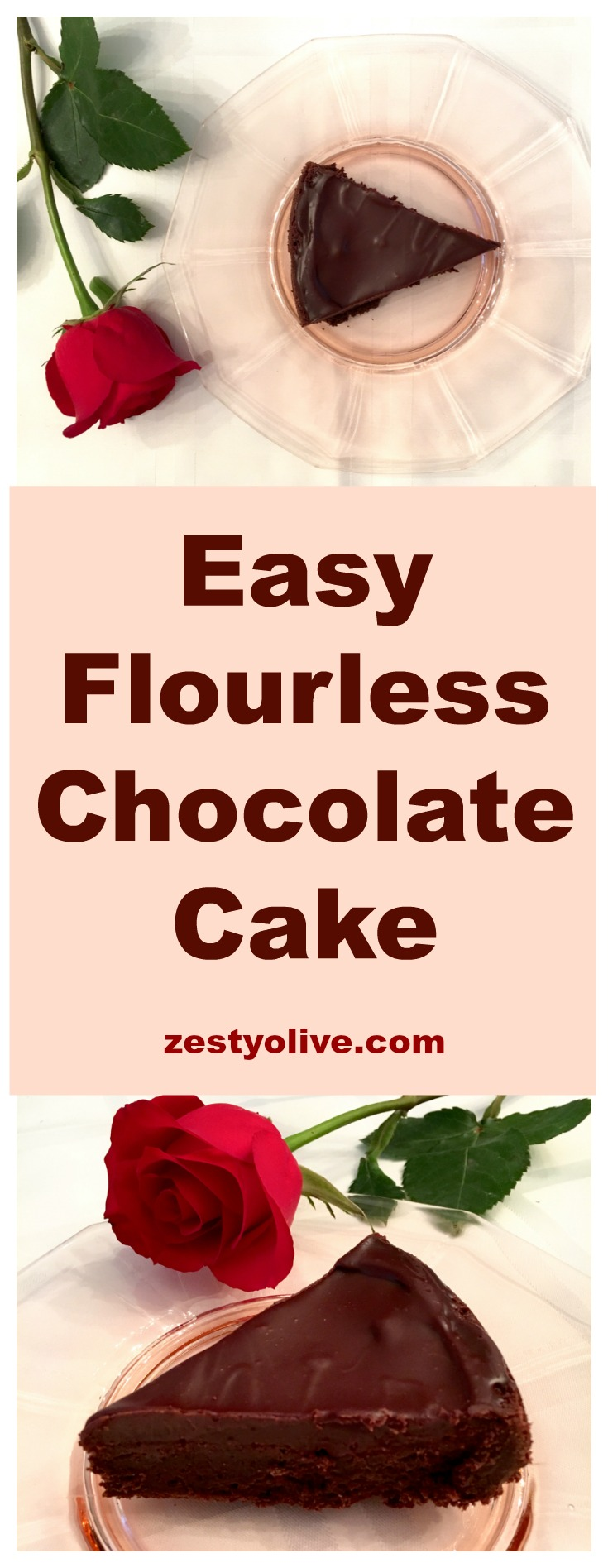 You can whip up this flourless chocolate cake with ganache glaze in one bowl ~ no need for a mixer! This cake is dense and rich - perfect for chocolate lovers. Bonus: it's easy!