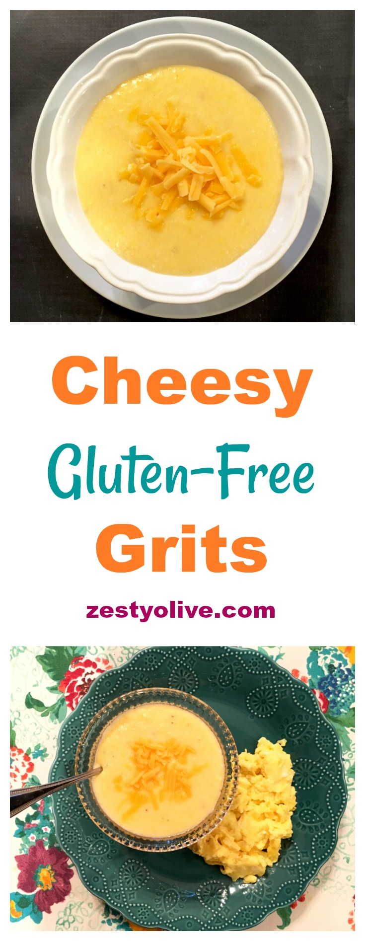 Calling all southerners, cheese lovers, and grits lovers: behold; here's the gluten-free cheesy grits recipe that you've been craving.
