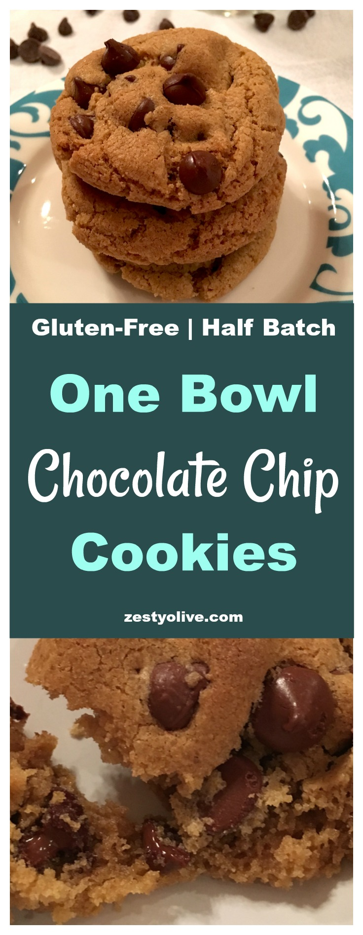 Easy Gluten-Free One Bowl Half Batch Chocolate Chip Cookies