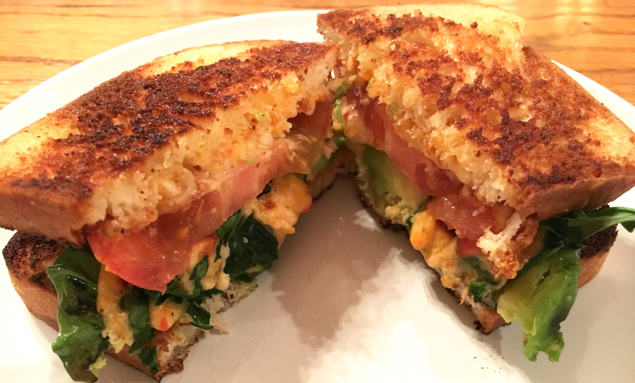 Grilled Cheese, Tomato, and Avocado Sandwich Variations