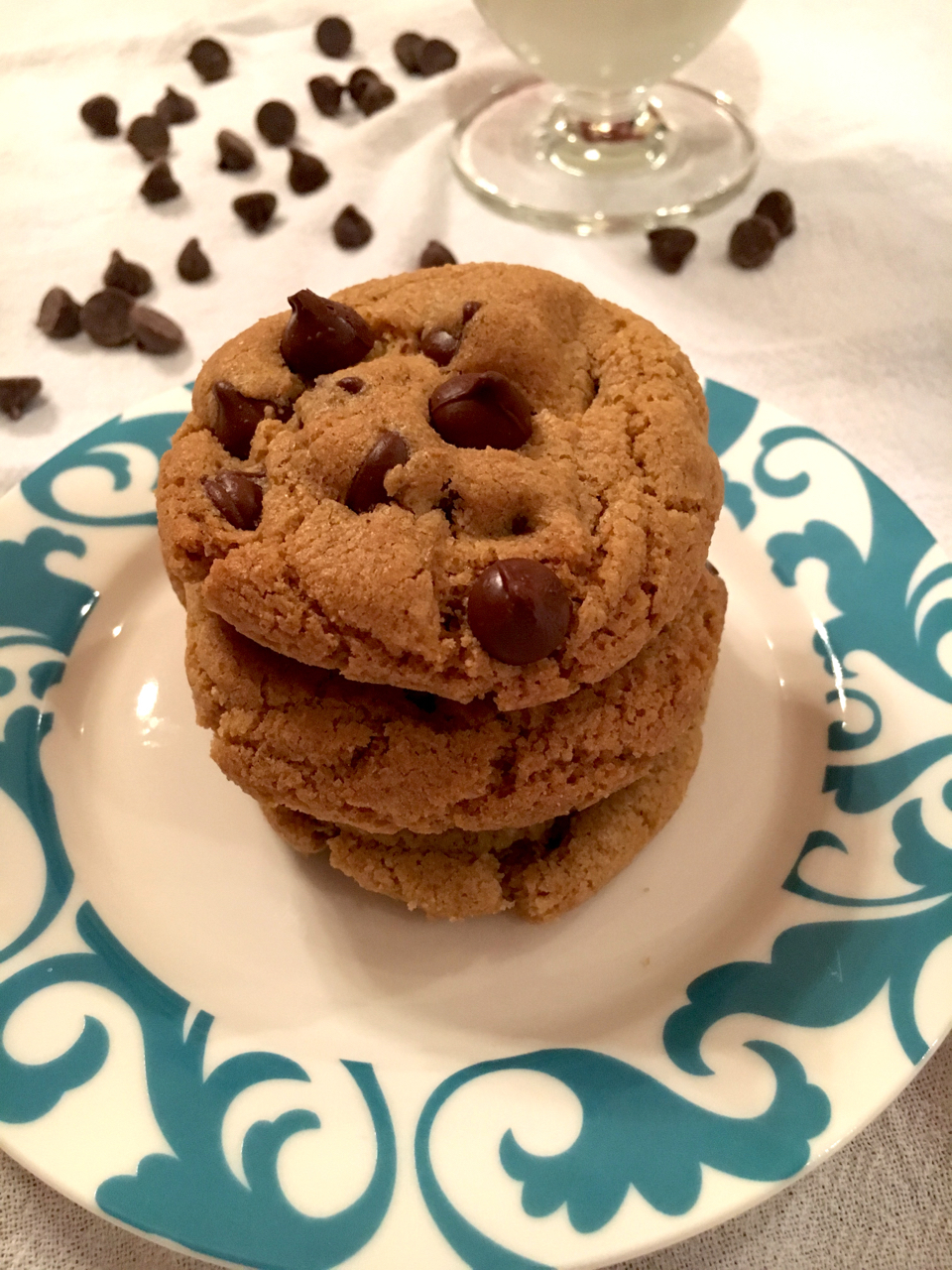 One Bowl Gluten Free Chocolate Chip Cookies (Half Batch)