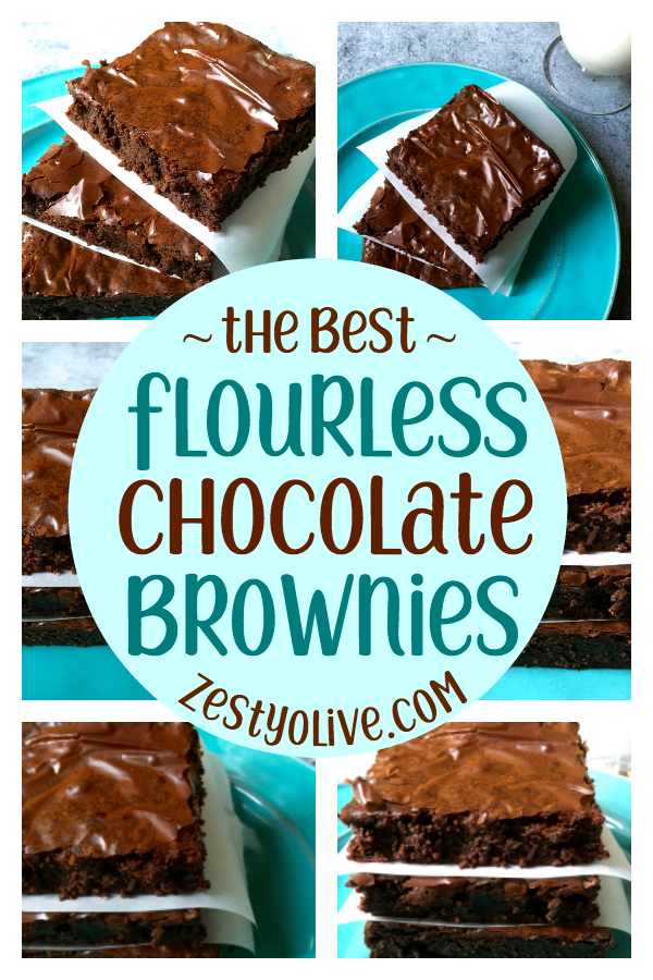 These flourless chocolate brownies are amazing. No, really. They're easy to make, they're gluten-free, and they're over-the-top full of chocolate! Just look at that crinkly, flaky top!