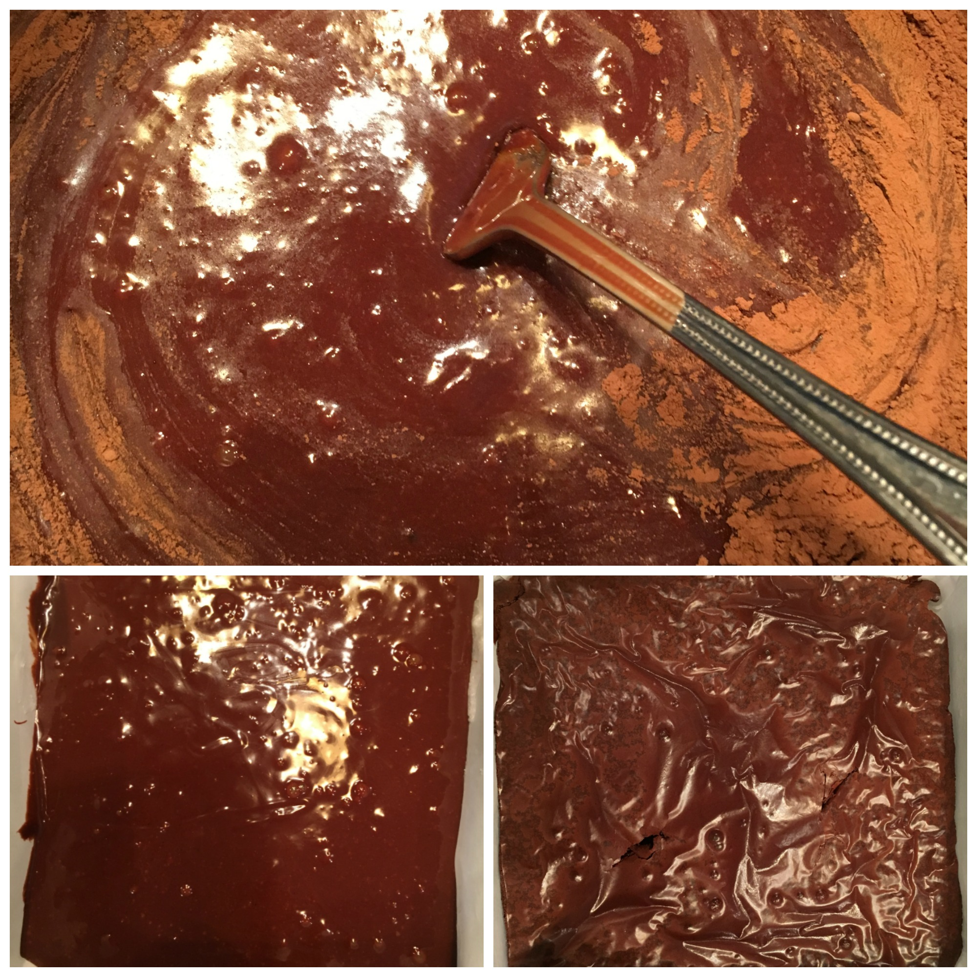 Flourless Chocolate Brownies Collage