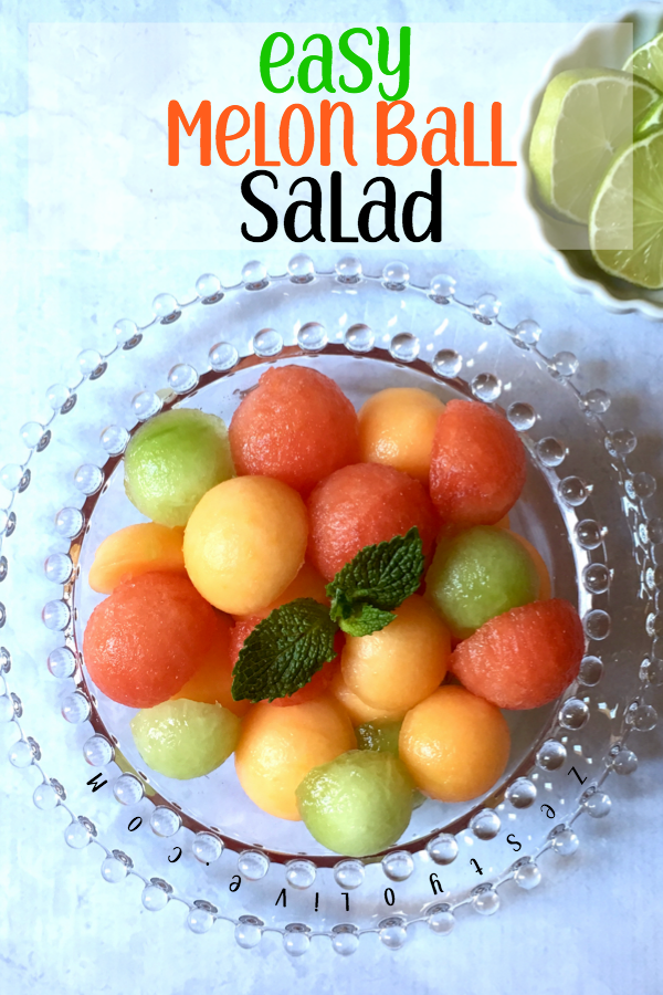 This melon ball salad is cool and refreshing. It's perfect for summer months, picnics and holiday gatherings.