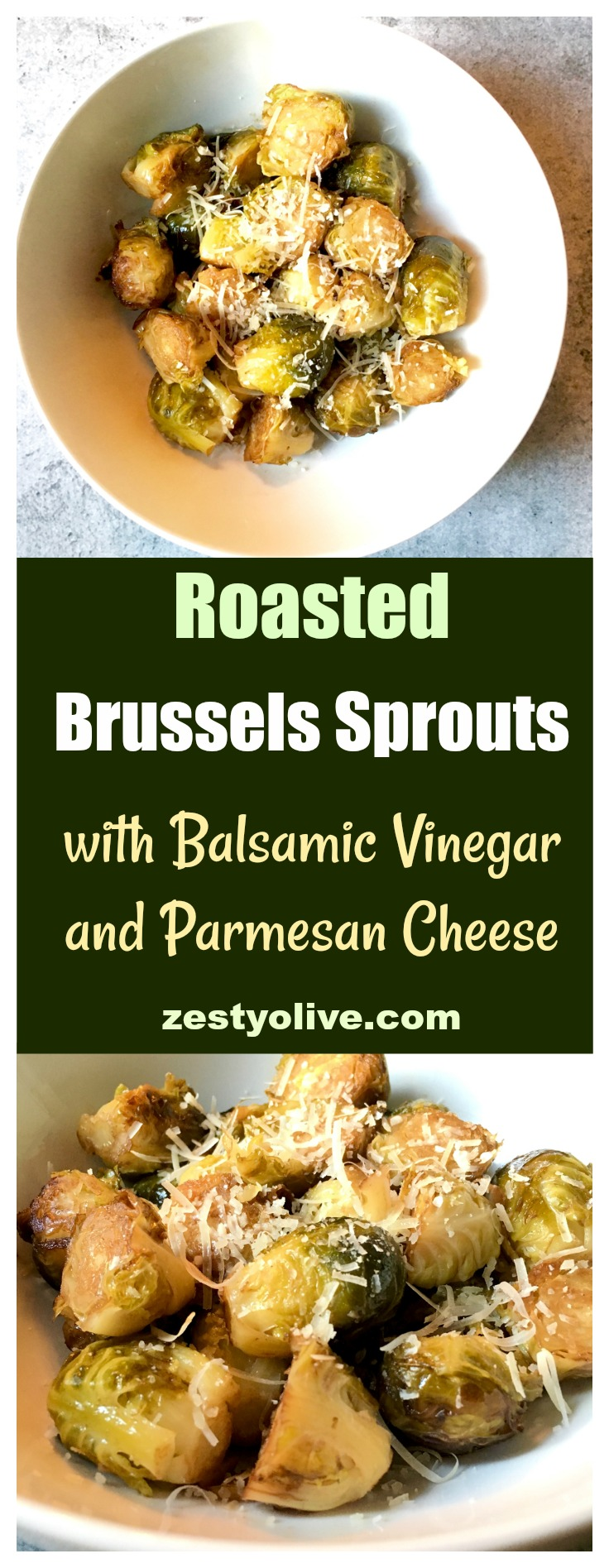 Brussels Sprouts with Balsamic and Parmesan Cheese