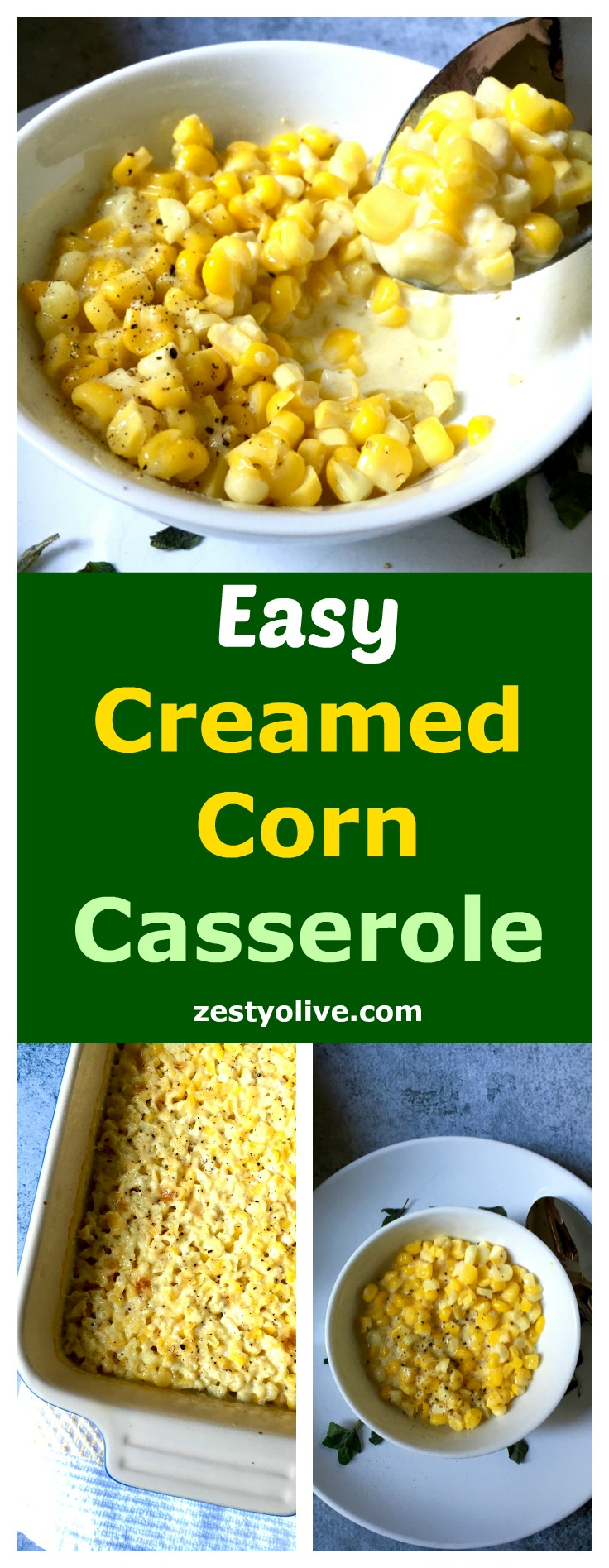 Easy Creamed Corn Casserole