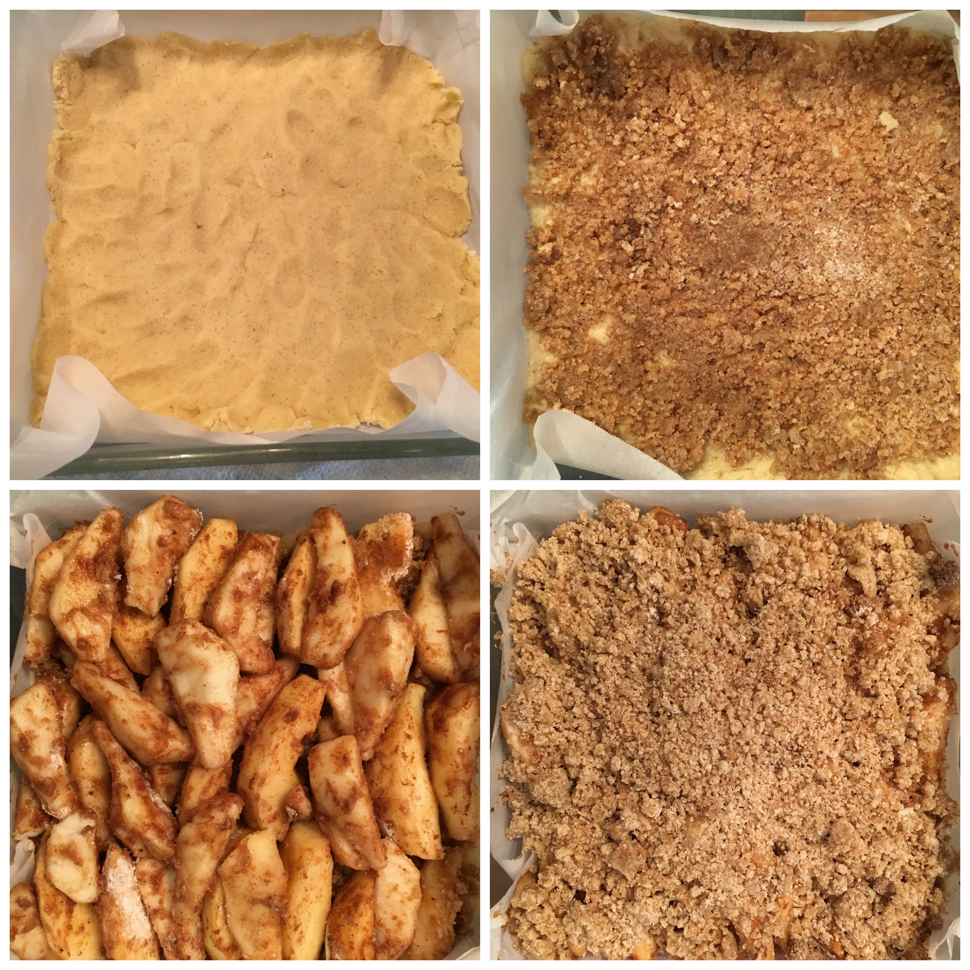 GF Apple Pie Bars Collage