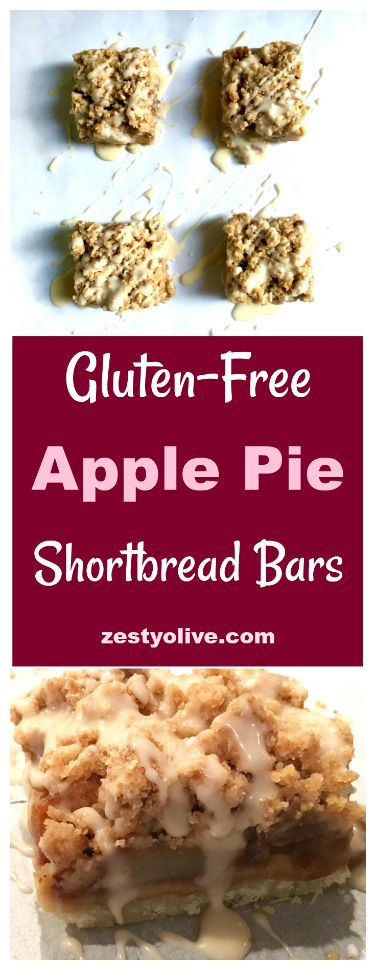 Gluten Free Apple Pie Shortbread Bars