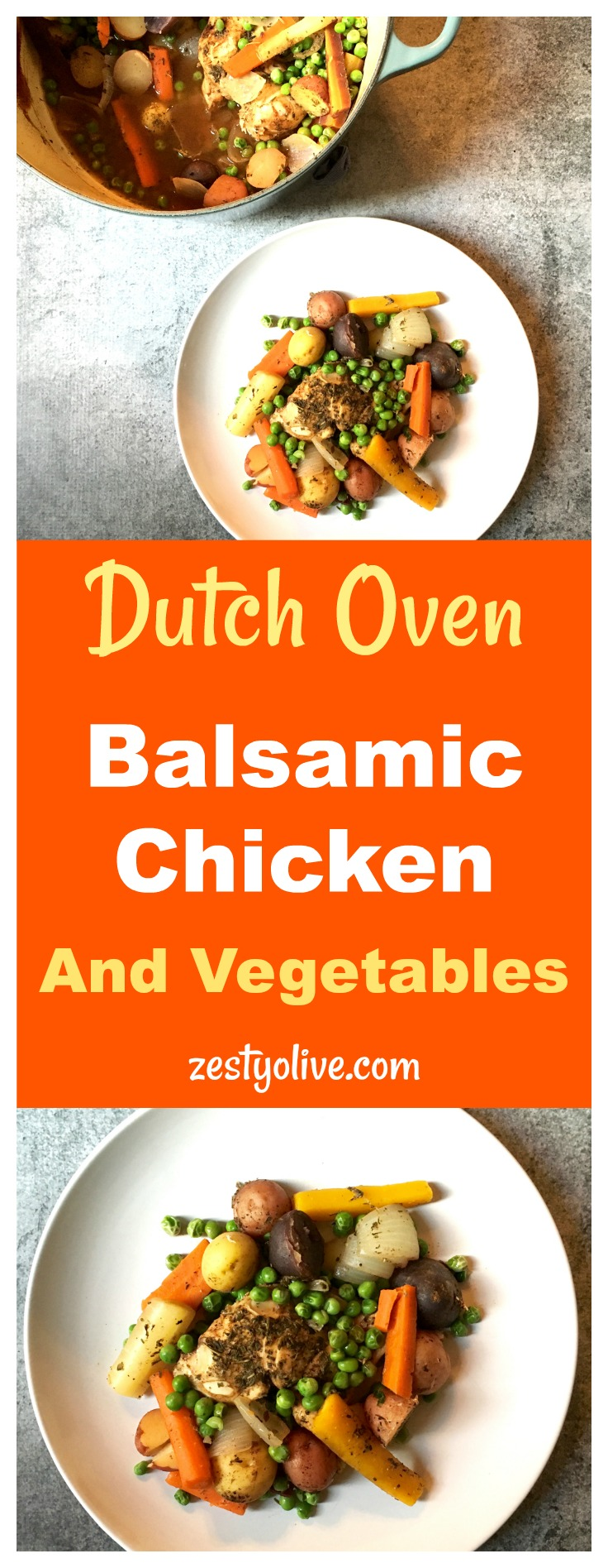 Dutch Oven Balsamic Chicken and Vegetables