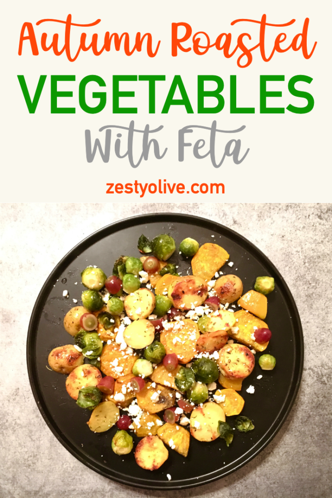 Autumn Roasted Vegetables with Feta Cheese