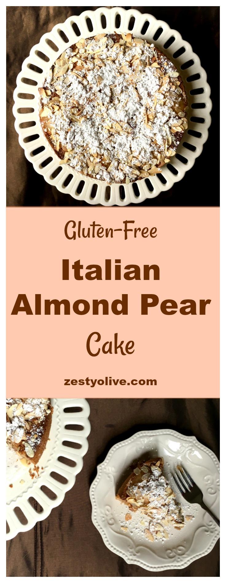 Gluten-Free Italian Pear Almond Cake