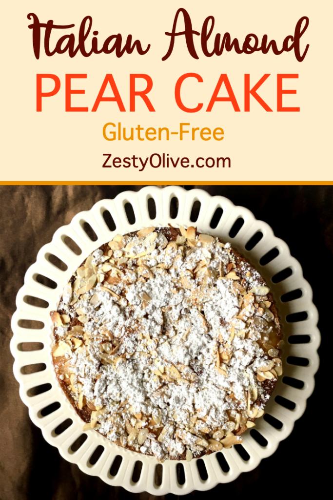 italian almond pear cake