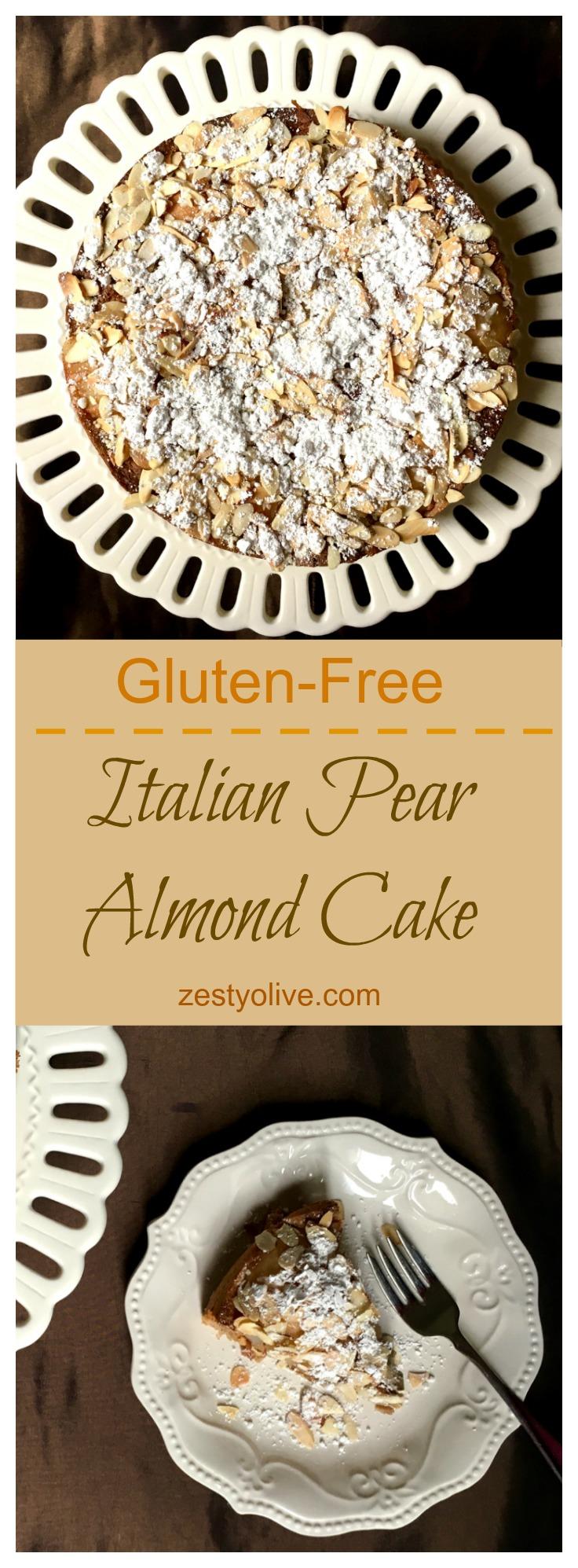 Italian Pear Almond Cake Gluten-Free