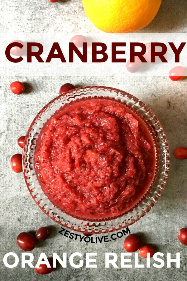 This easy Cranberry Orange Relish is a holiday favorite. It's the perfect combination of tart and sweet.