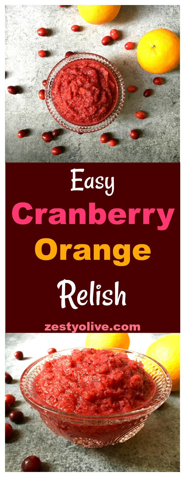 Easy Cranberry Orange Relish