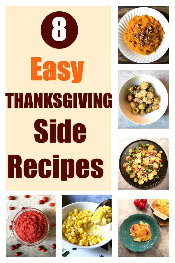 I like easy, and maybe you do, too? Here are 8 Easy Thanksgiving Side Recipes that don't require much fuss. Most of them you can make ahead and just reheat before serving.
