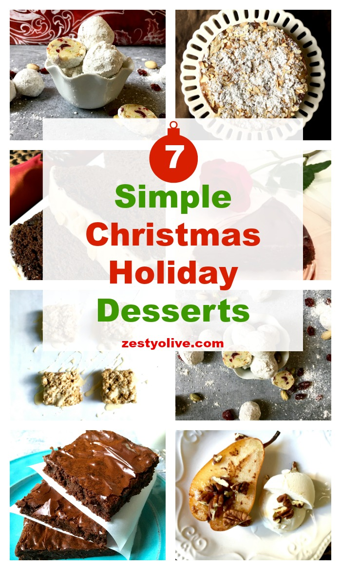 7 simple christmas holiday desserts zesty olive simple. Black Bedroom Furniture Sets. Home Design Ideas