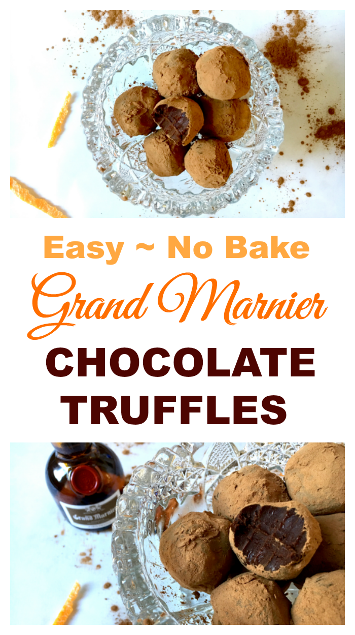 Grand Marnier Chocolate Truffles are smooth, rich, and elegant. They are a simple, no-bake treat flavored with a subtle orange liqueur.