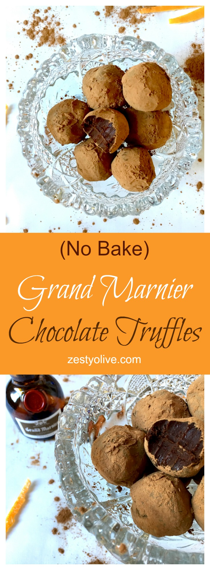 No Bake Grand Marnier Chocolate Truffles
