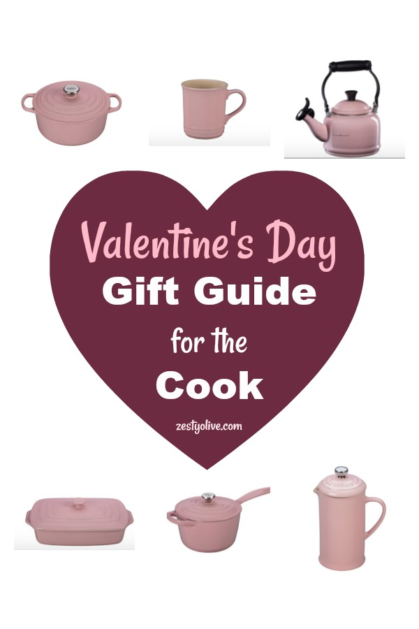 My Valentine's Day Gift Guide For The Cook showcases a few pieces from the Le Creuset line of enameled cast iron cookware and bakeware.