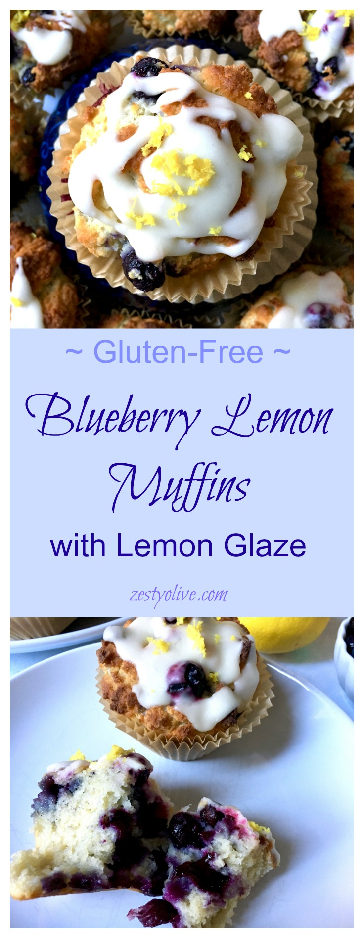 Blueberry Lemon Muffins (Gluten-Free)