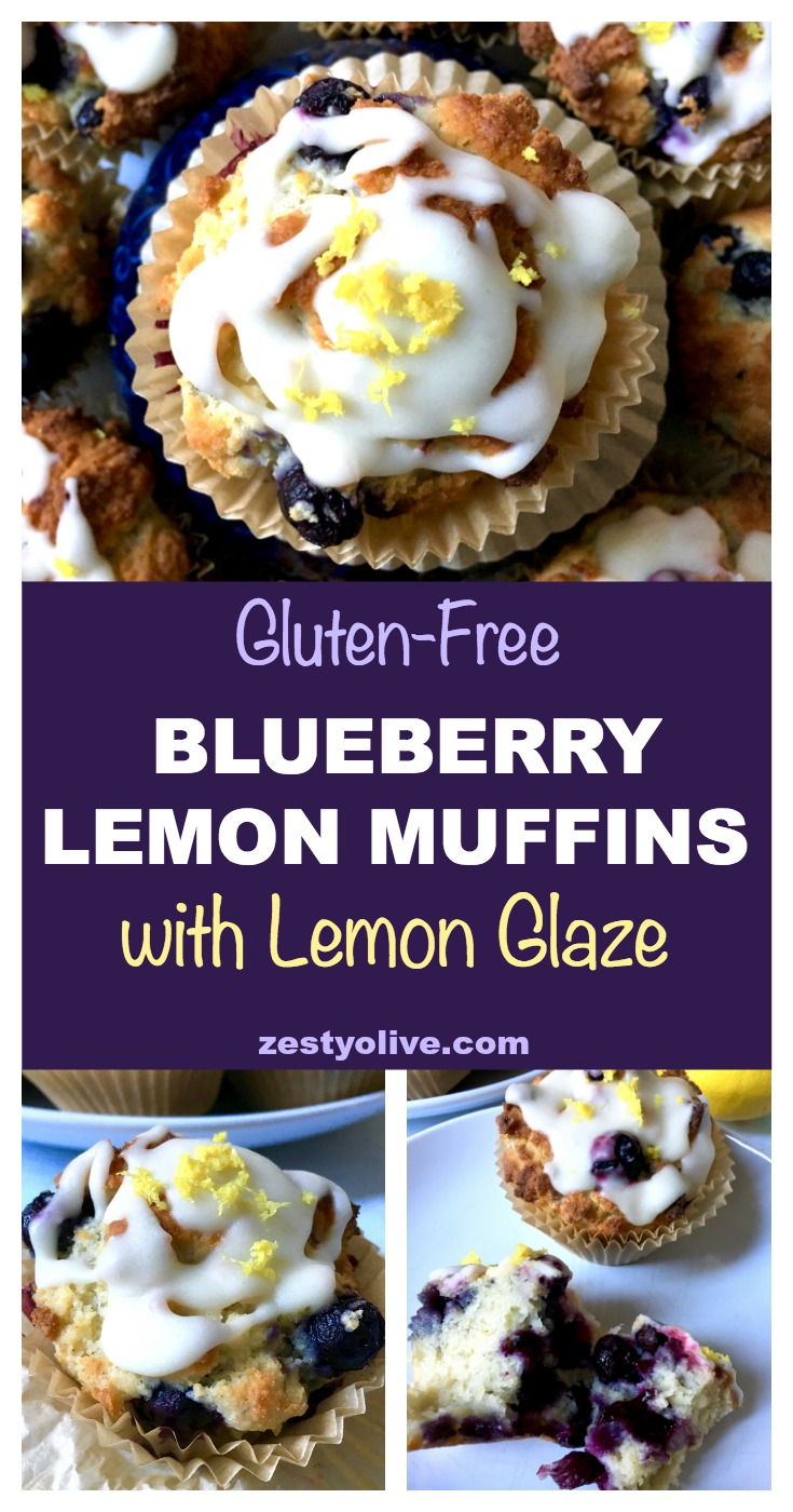 These Blueberry Lemon Muffins with Lemon Glaze are easy to make and will be a family favorite! Gluten-Free option available.