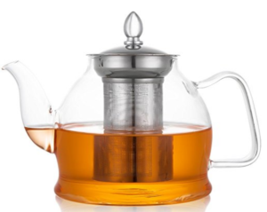 Hiware Glass Teapot with Removable Infuser, Stovetop Safe