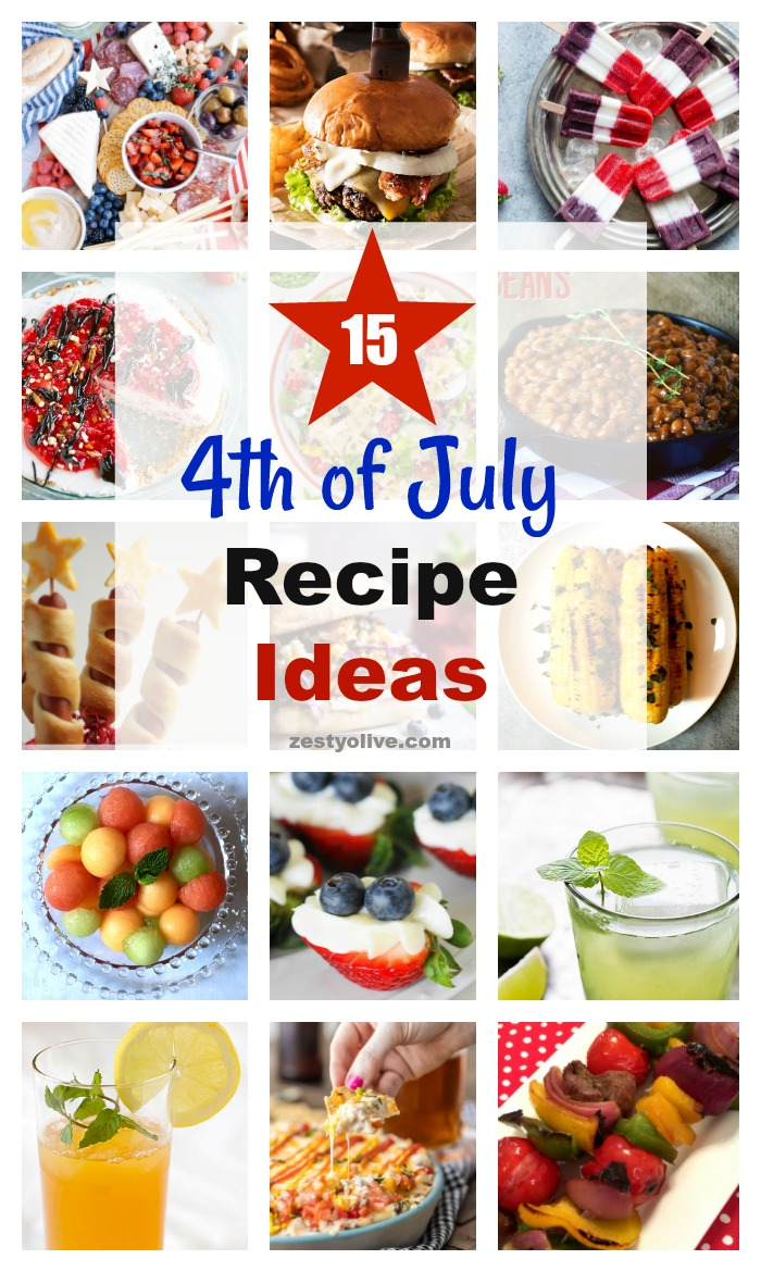 4th of July Patriotic Recipe and Menu Ideas for Your Independence Day Celebration, Cookout, Party or Picnic.