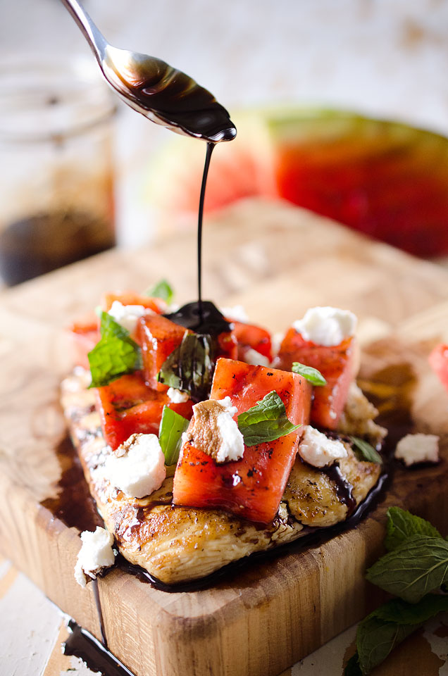 Grilled Watermelon and Balsamic Chicken
