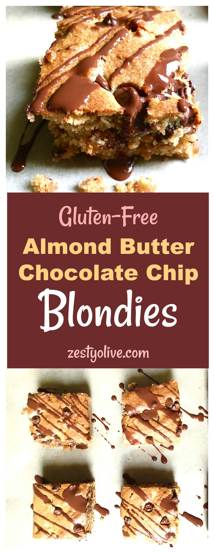 Gluten Free Almond Butter Blondies
