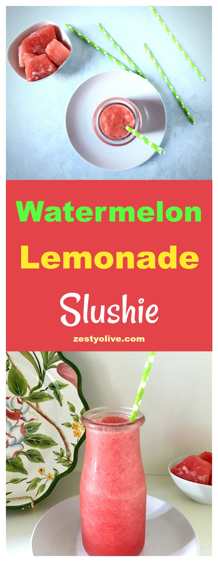 Watermelon Lemonade Slushie