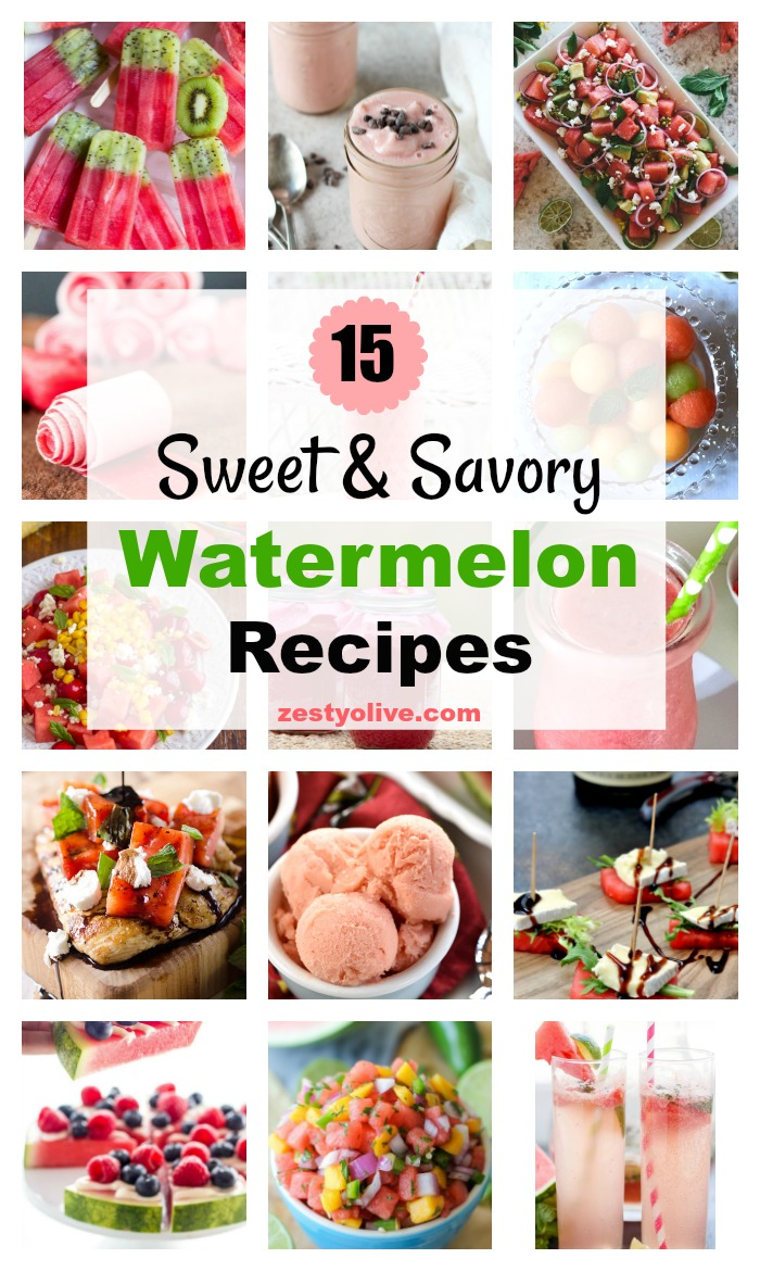 15 Sweet and Savory Watermelon Recipe for Summer