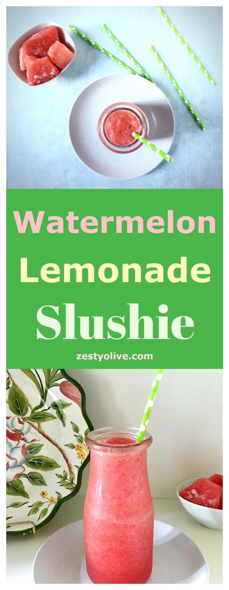 Watermelon Lemonade Slushie