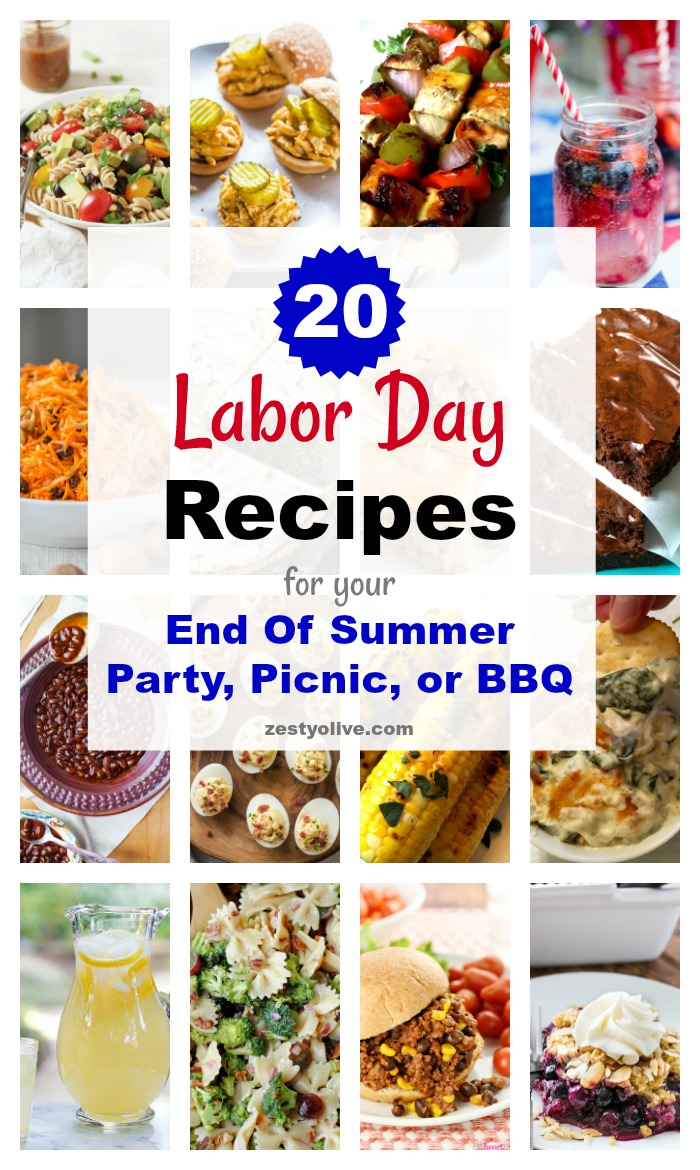20 Labor Day Recipes For Your End Of Summer Party, Picnic, or BBQ