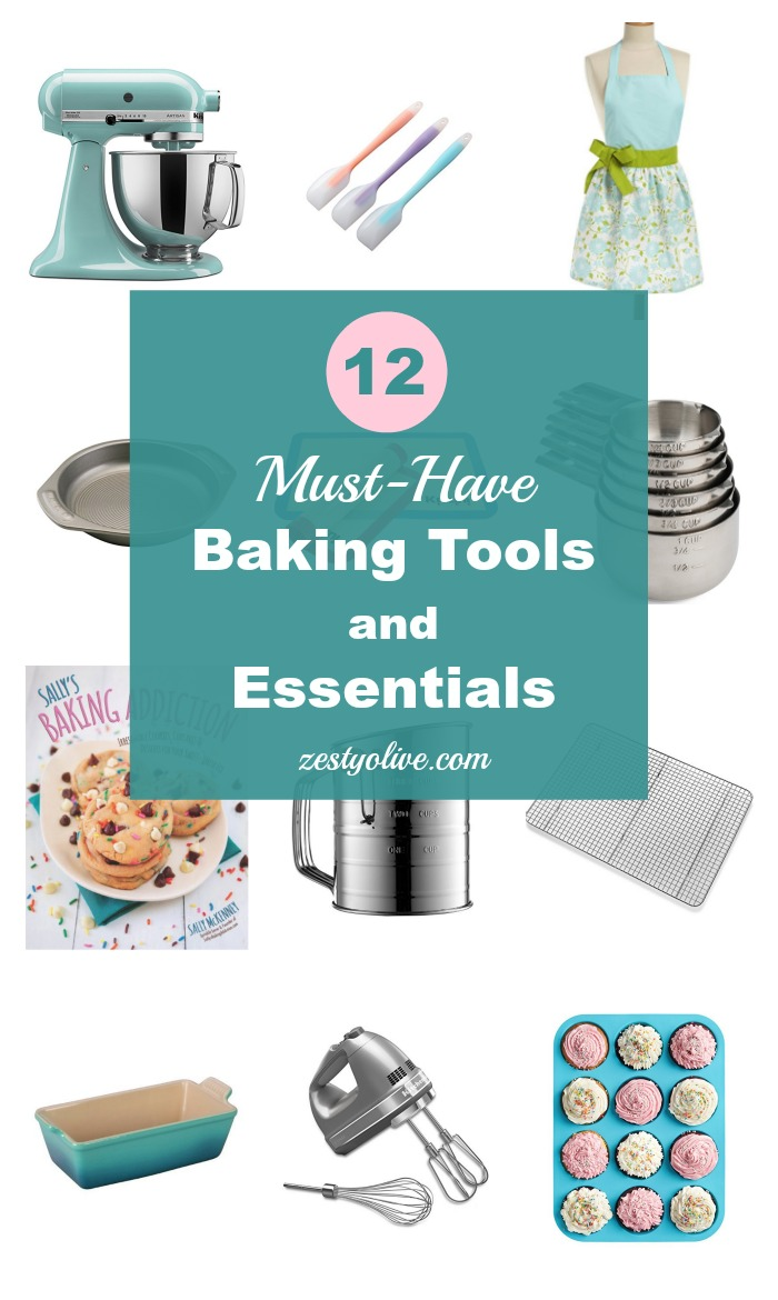 12 Must-Have Baking Tools And Essentials * Zesty Olive - Simple ...