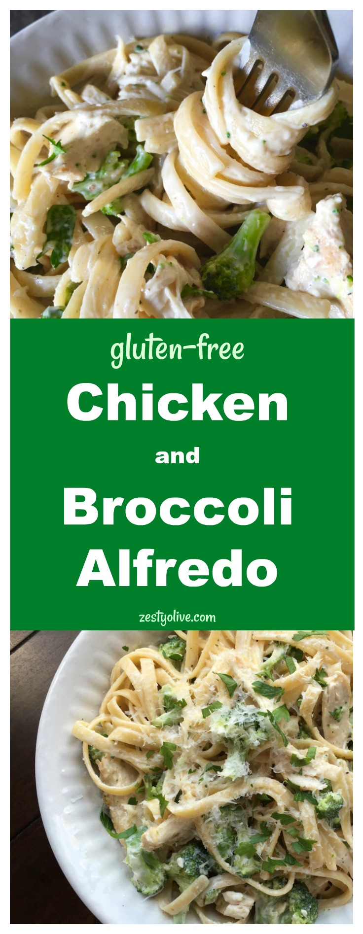 Gluten-Free Chicken Broccoli Alfredo